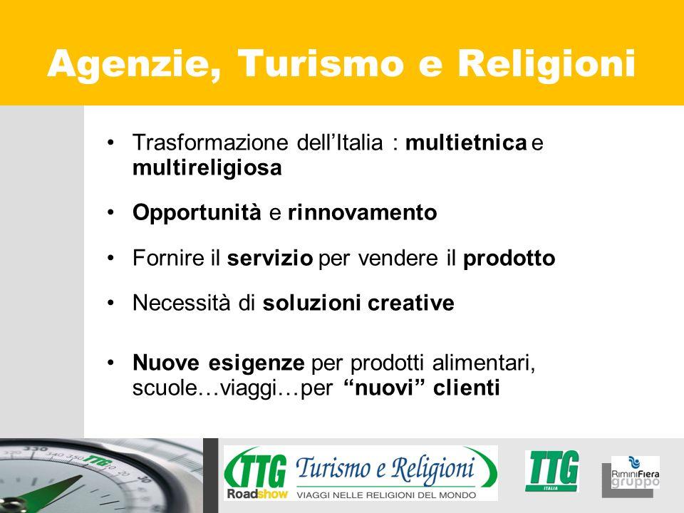 Trasformazione dellItalia : multietnica e multireligiosa Opportunità e rinnovamento Fornire il servizio per vendere il prodotto Necessità di soluzioni