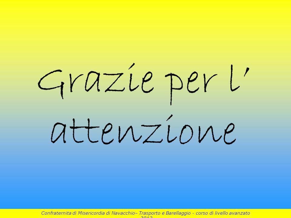 Grazie per l attenzione 10 Confraternita di Misericordia di Navacchio– Trasporto e Barellaggio - corso di livello avanzato 2013