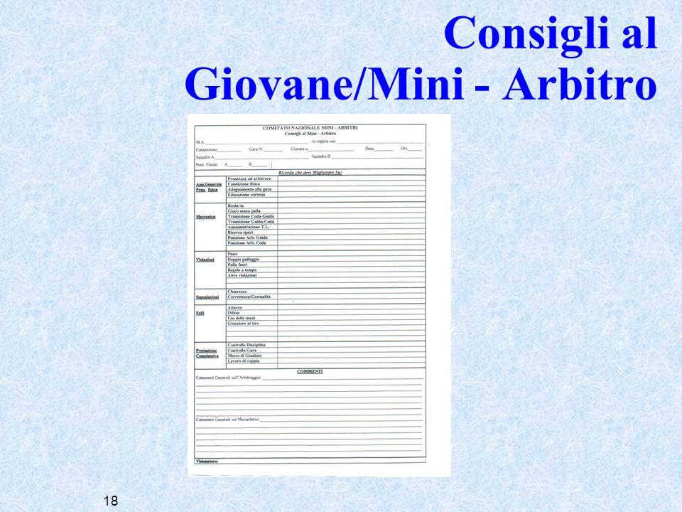 18 Consigli al Giovane/Mini - Arbitro