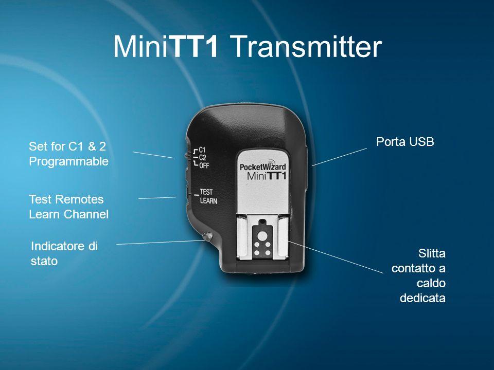 MiniTT1 Transmitter Set for C1 & 2 Programmable Test Remotes Learn Channel Indicatore di stato Slitta contatto a caldo dedicata Porta USB