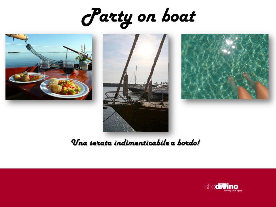 Party on boat Una serata indimenticabile a bordo!