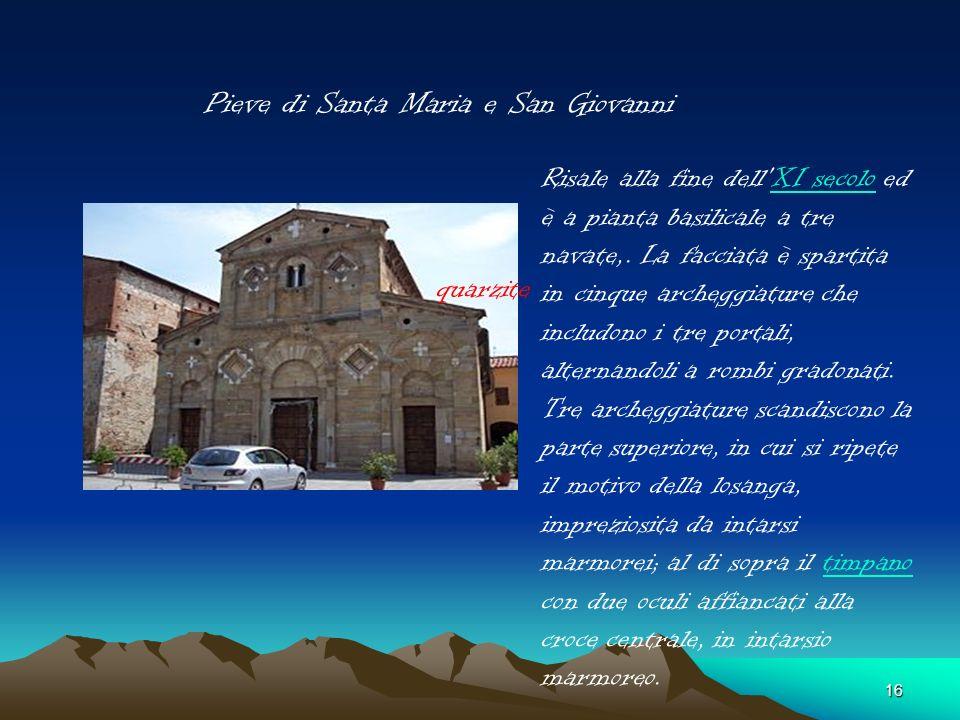 15 Chiesa di San Iacopo di Zambra Attestata nel IX secolo. Siamo in epoca longobarda. I longobardi sono stati la prima popolazione a convertirsi al Cr