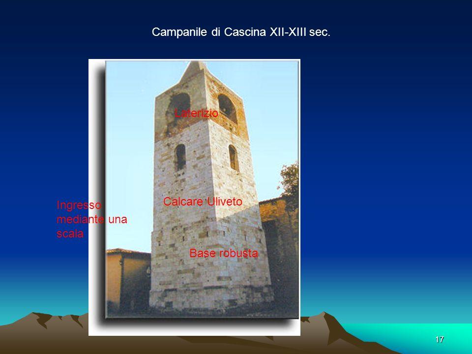 16 Pieve di Santa Maria e San Giovanni quarzite Risale alla fine dell'XI secolo ed è a pianta basilicale a tre navate,. La facciata è spartita in cinq