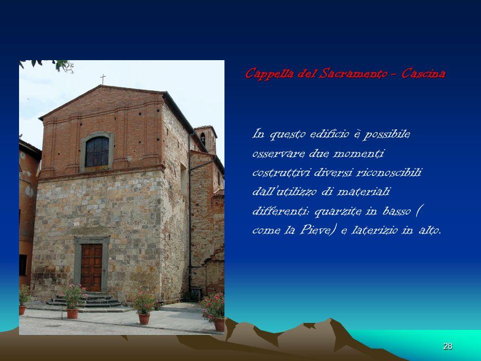 27 Santuario della Madonna dellAcqua 1600 Sulla facciata della Chiesa le decorazioni diventano scarne rispetto ai secoli precedenti. Prima veniva data