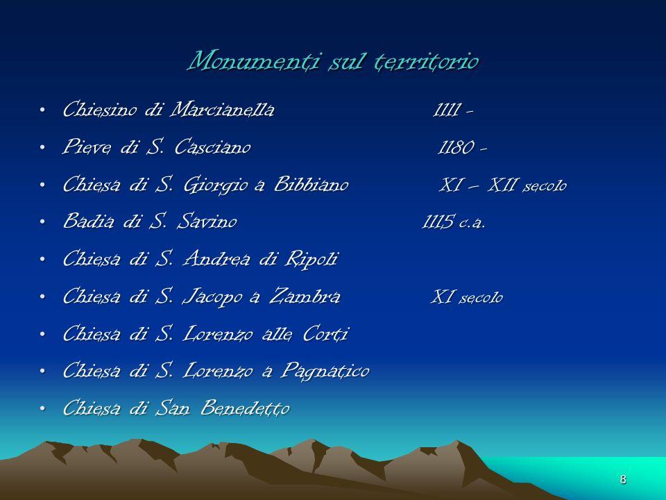 Monumenti a Cascina Pieve di S. Maria X – XI secolo Pieve di S. Maria X – XI secolo Chiesa di S. Giovanni Chiesa di S. Giovanni Battistero Battistero