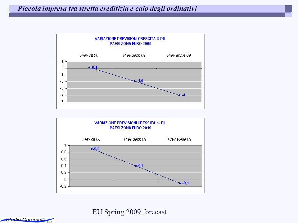 Piccola impresa tra stretta creditizia e calo degli ordinativi EU Spring 2009 forecast
