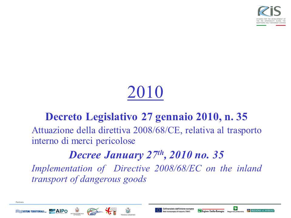 2010 Decreto Legislativo 27 gennaio 2010, n.
