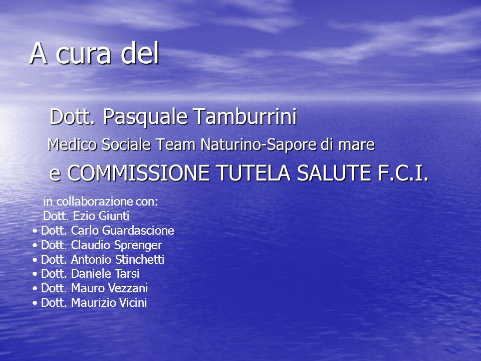 A cura del Dott. Pasquale Tamburrini Medico Sociale Team Naturino-Sapore di mare Dott. Pasquale Tamburrini Medico Sociale Team Naturino-Sapore di mare