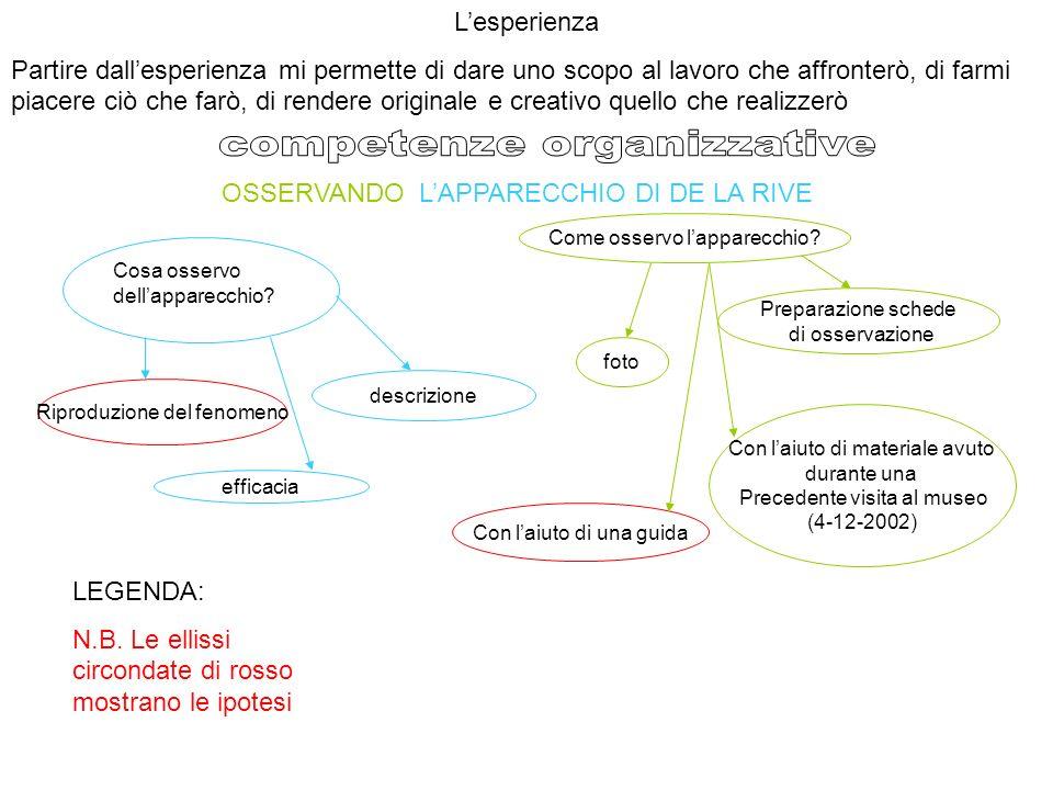 OSSERVANDO LAPPARECCHIO DI DE LA RIVE Cosa osservo dellapparecchio.