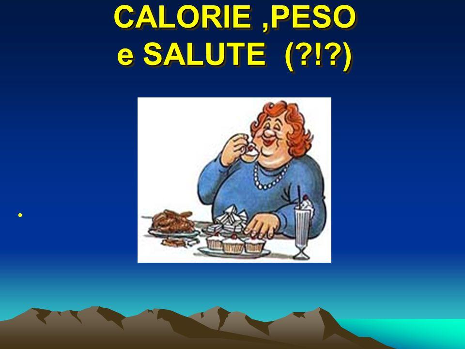 CALORIE,PESO e SALUTE (?!?)