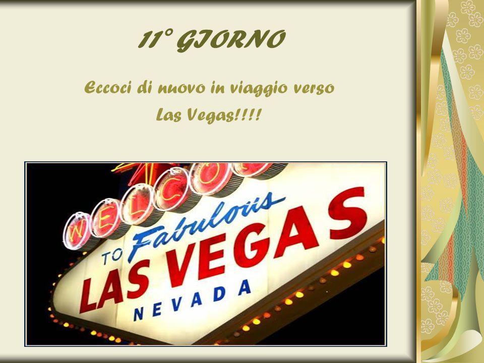 11° GIORNO Eccoci di nuovo in viaggio verso Las Vegas!!!!