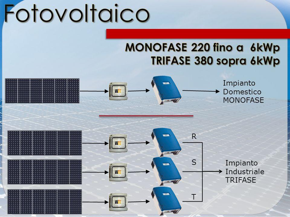 Impianto Domestico MONOFASE Impianto Industriale TRIFASE RSTRST