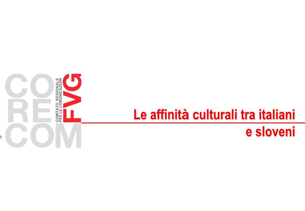 Le affinit à culturali tra italiani Le affinit à culturali tra italiani e sloveni