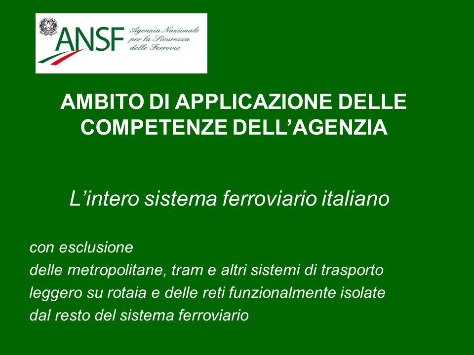 Lintero sistema ferroviario italiano con esclusione delle metropolitane, tram e altri sistemi di trasporto leggero su rotaia e delle reti funzionalmen