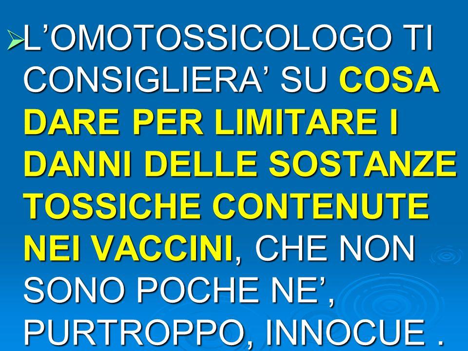 SOSTANZE CONTENUTE NEI VACCINI ( DELLE QUALI NESSUNO CI INFORMA !!.