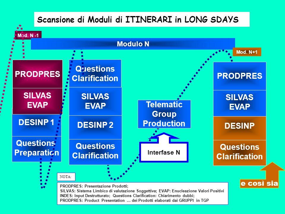 Questions Preparation DESINP 1 Questions Clarification SILVAS EVAP PRODPRES Mod.