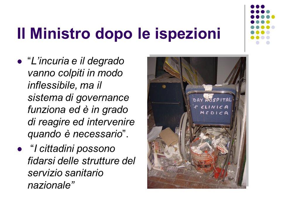 Il Ministro dopo le ispezioni Lincuria e il degrado vanno colpiti in modo inflessibile, ma il sistema di governance funziona ed è in grado di reagire