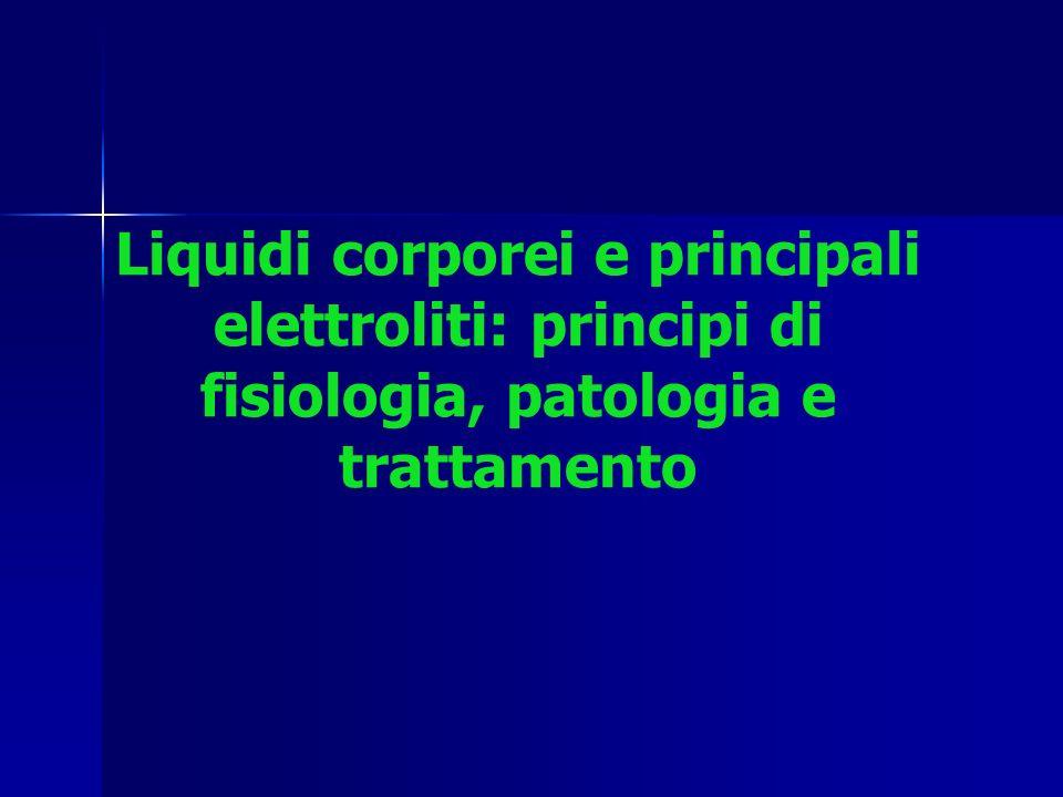 Regolazione ormonale dei liquidi corporei RIDUZIONEDELLAQUANTITADI LIQUIDI