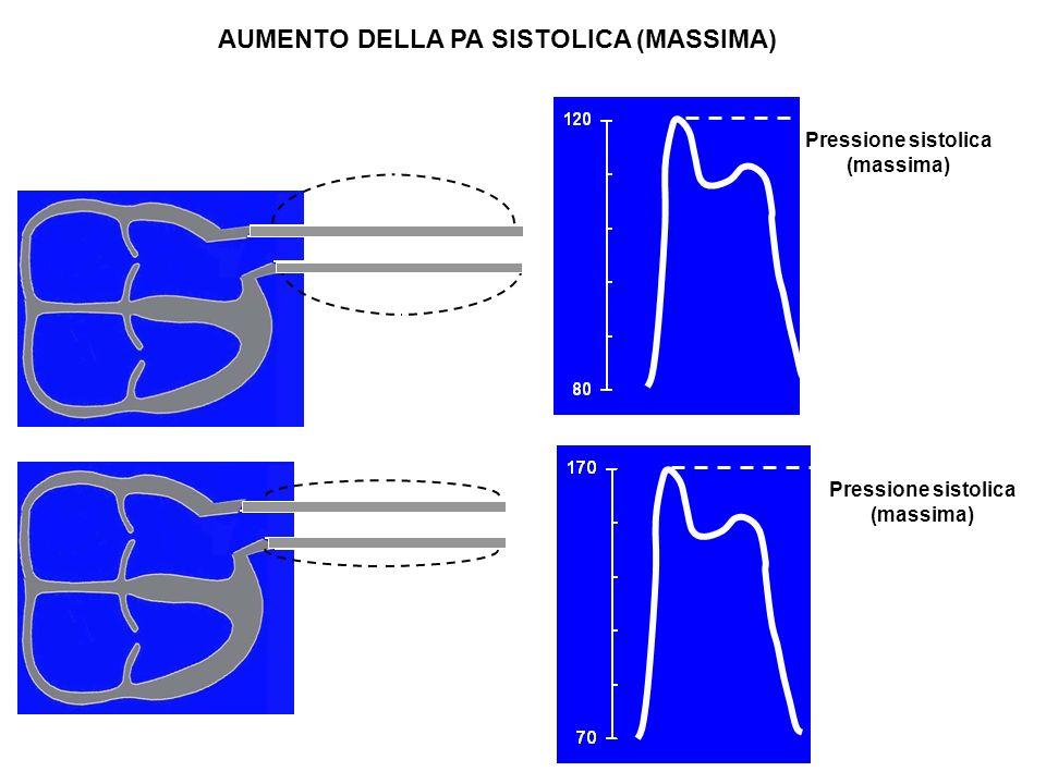 21 AUMENTO DELLA PA SISTOLICA (MASSIMA) Pressione sistolica (massima)