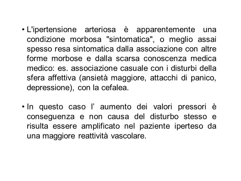 L'ipertensione arteriosa è apparentemente una condizione morbosa