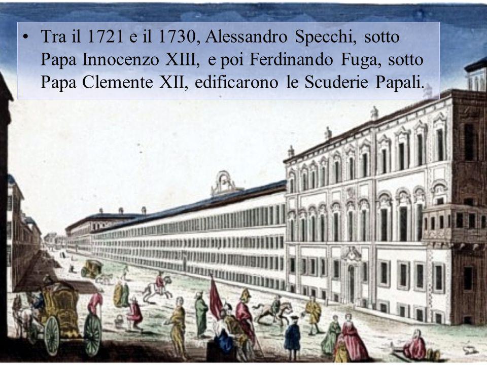 Nel 1809 lesercito napoleonico occupò Roma, catturando Papa Pio VII, e scegliendo il Quirinale come residenza dellImperatore; Nel Maggio del 1814 Papa Pio VII rientrò a Roma e si adoperò il più possibile per cancellare le tracce napoleoniche.