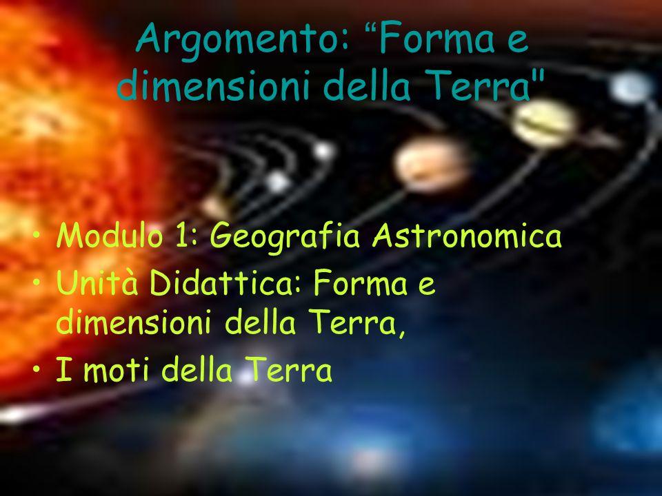 Il reticolato geografico Asse terrestre : è lasse di rotazione della terra;è una retta che passa per i Poli e il centro.