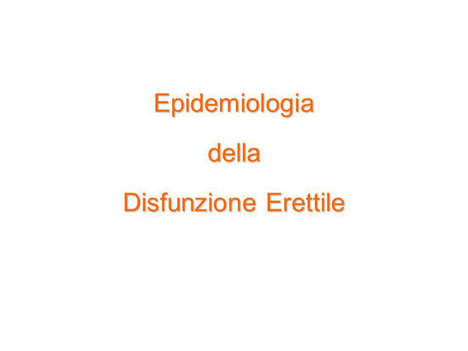 Epidemiologiadella Disfunzione Erettile Epidemiologiadella