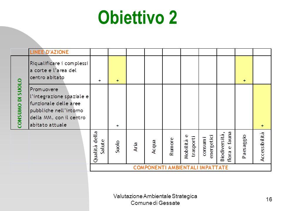 Obiettivo 3 Valutazione Ambientale Strategica Comune di Gessate 17