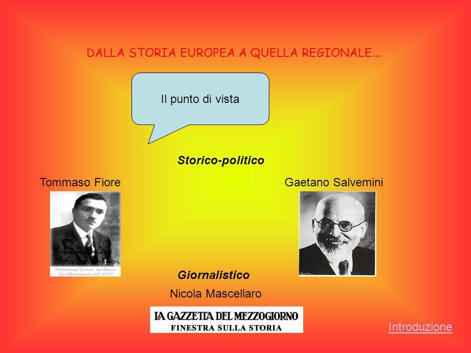 INTRODUZIONE Dopo esserci occupati della situazione europea e quelle italiana nell immediato dopoguerra abbiamo voluto analizzare il periodo postbellico nella nostra regione : la Puglia.