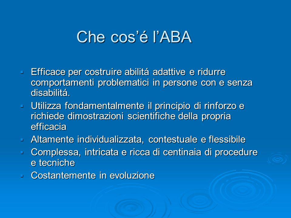 ABA per lAutismo: che cosa non é.
