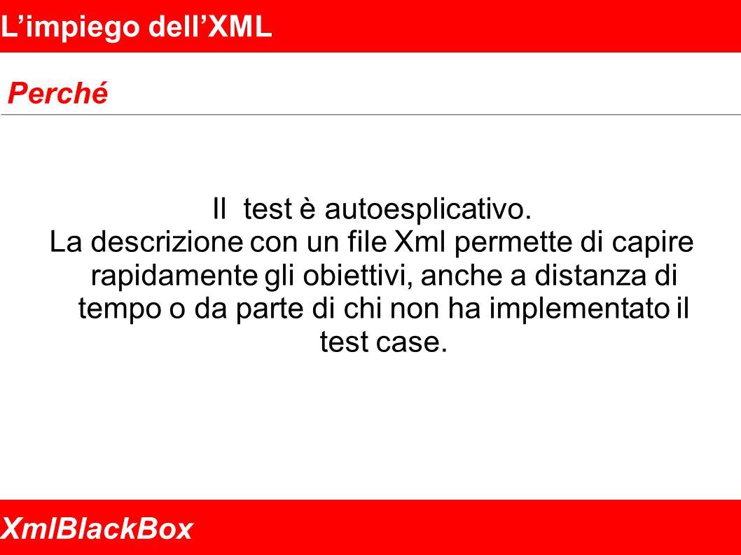 XmlBlackBox Limpiego dellXML Perché Il test è autoesplicativo.
