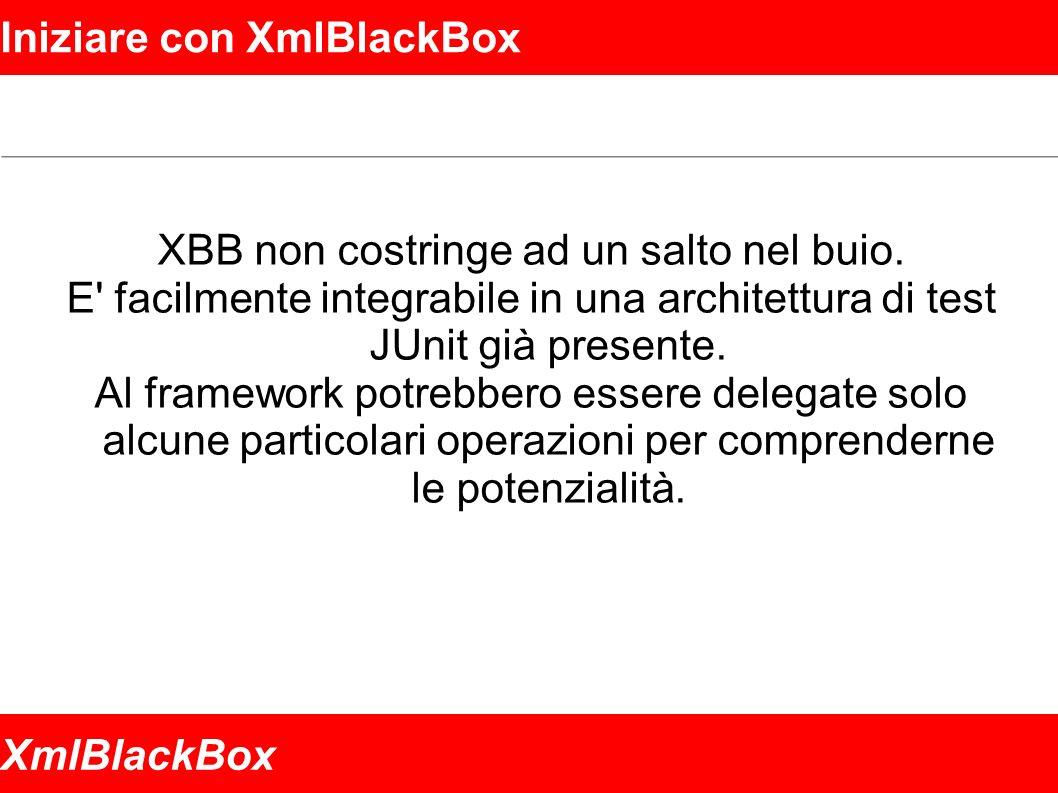 XmlBlackBox Iniziare con XmlBlackBox XBB non costringe ad un salto nel buio.
