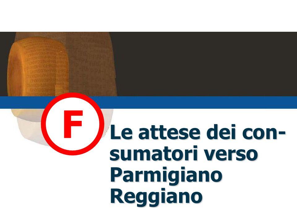 Le attese dei con- sumatori verso Parmigiano Reggiano F