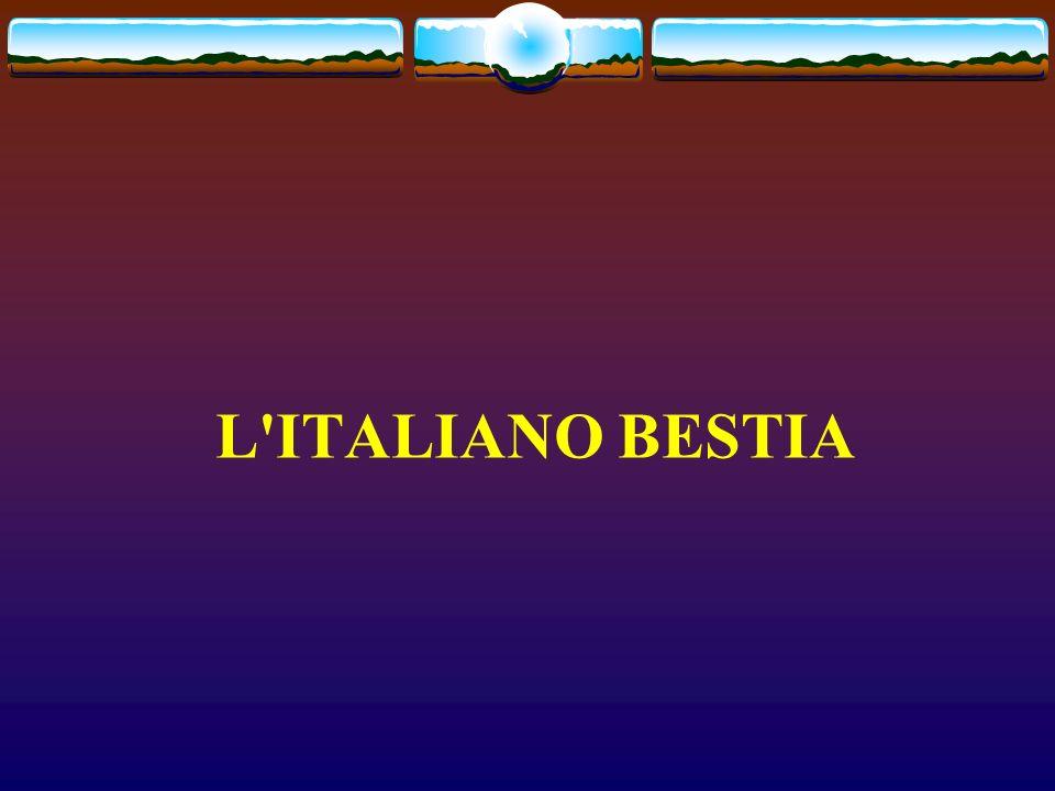 L'ITALIANO BESTIA