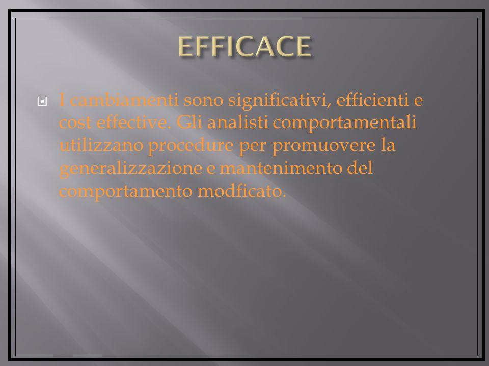I cambiamenti sono significativi, efficienti e cost effective.