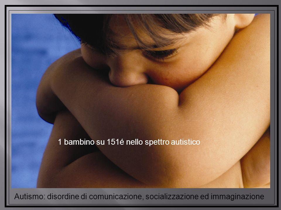 Autismo: disordine di comunicazione, socializzazione ed immaginazione 1 bambino su 151é nello spettro autistico