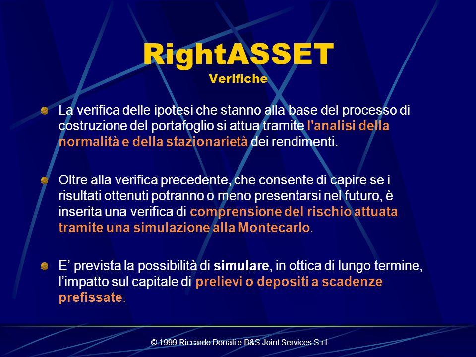 © 1999 Riccardo Donati e B&S Joint Services S.r.l. RightASSET Passato & Futuro Dal passato sono tratte le informazioni che verosimilmente rimarranno c
