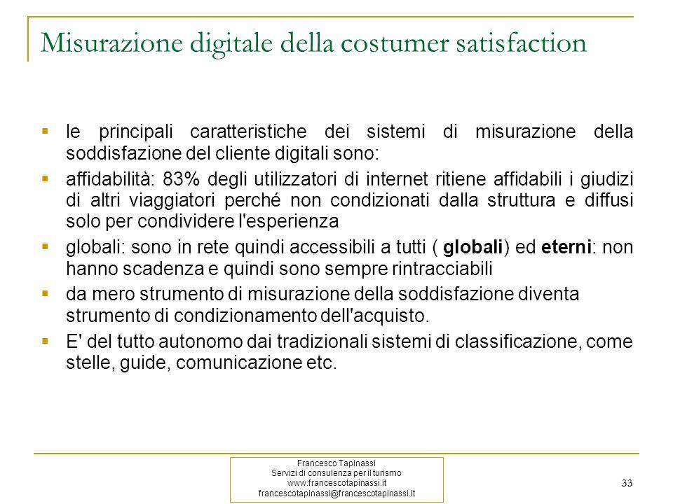 33 Misurazione digitale della costumer satisfaction le principali caratteristiche dei sistemi di misurazione della soddisfazione del cliente digitali