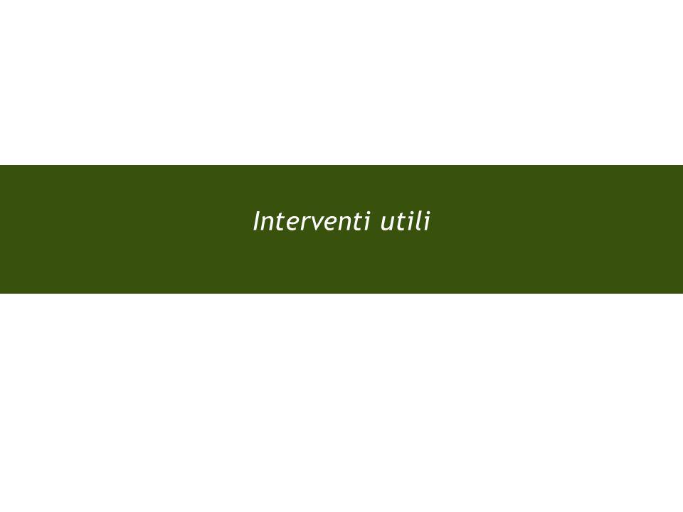 Interventi utili