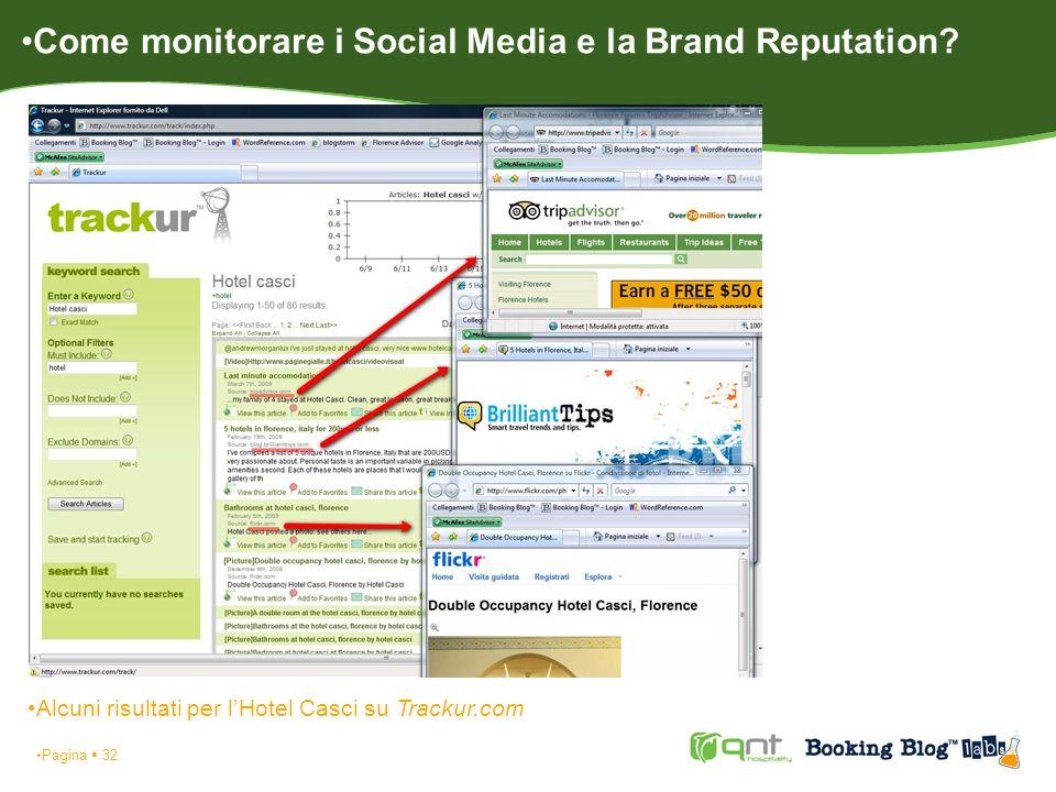 Pagina 32 Alcuni risultati per lHotel Casci su Trackur.com Come monitorare i Social Media e la Brand Reputation?