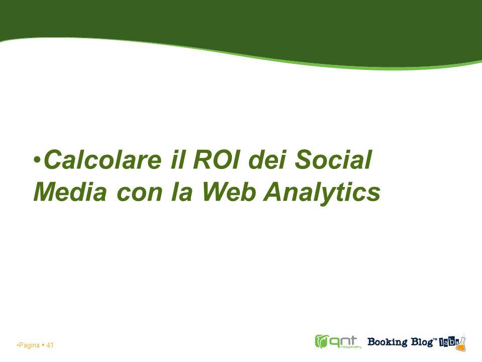 Pagina 42 Calcolare il ROI dei Social Media con la Web Analytics Fonti di traffico: visite 01/03/09 - 31/03/09 HOTEL C