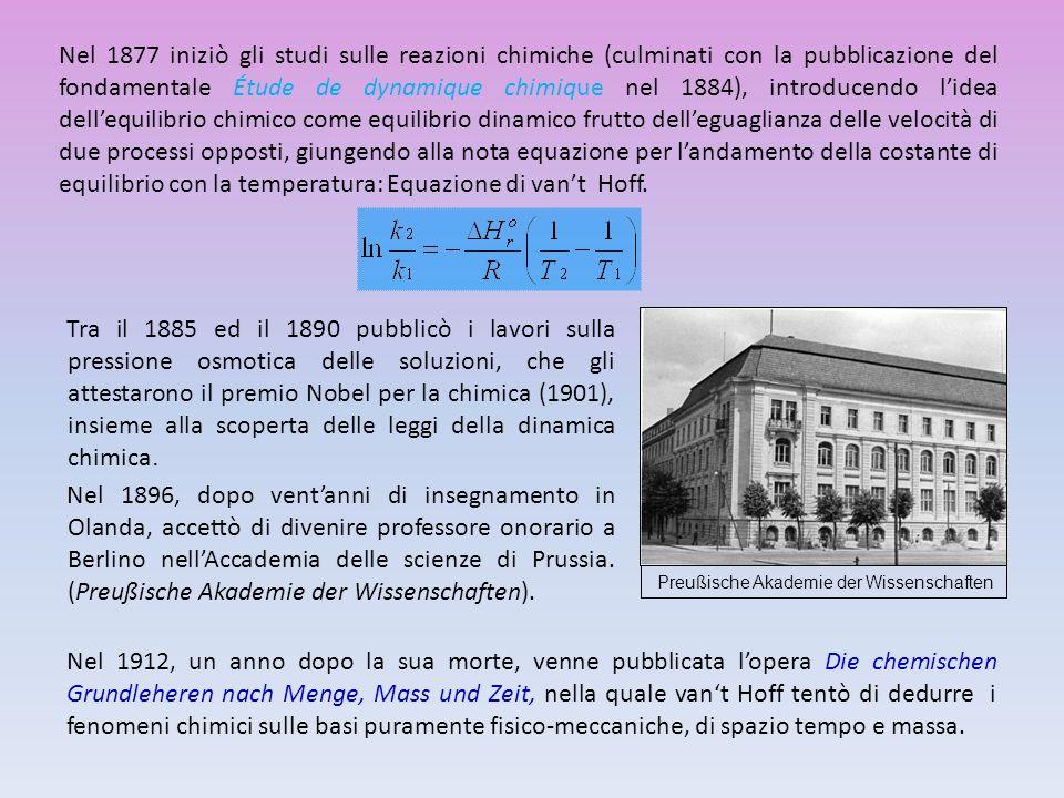 Nel 1877 iniziò gli studi sulle reazioni chimiche (culminati con la pubblicazione del fondamentale Étude de dynamique chimique nel 1884), introducendo
