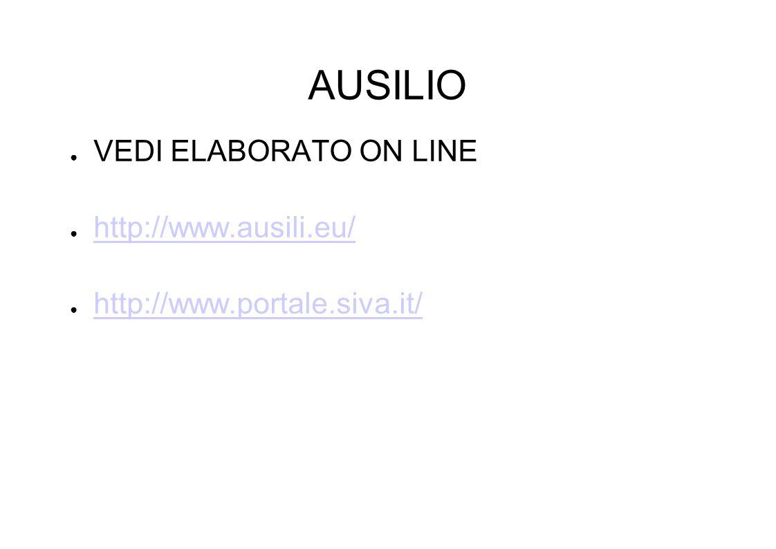 AUSILIO VEDI ELABORATO ON LINE http://www.ausili.eu/ http://www.portale.siva.it/