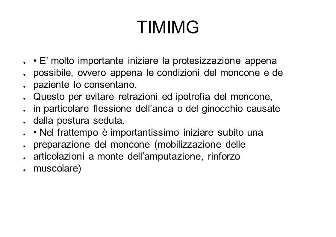 TIMIMG E molto importante iniziare la protesizzazione appena possibile, ovvero appena le condizioni del moncone e de paziente lo consentano.