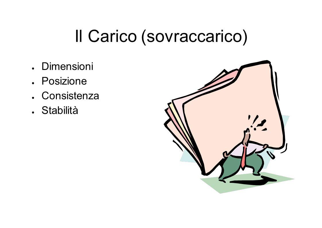 Il Carico (sovraccarico) Dimensioni Posizione Consistenza Stabilità