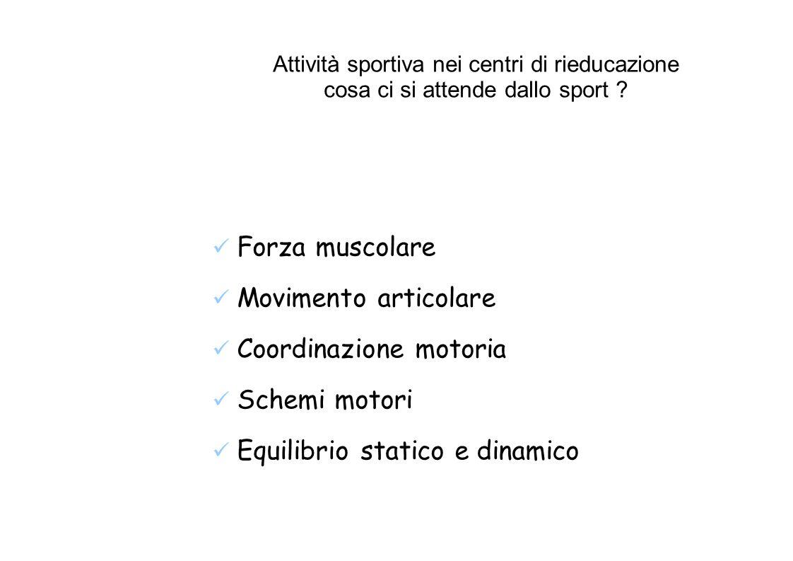 Attività sportiva nei centri di rieducazione cosa ci si attende dallo sport .
