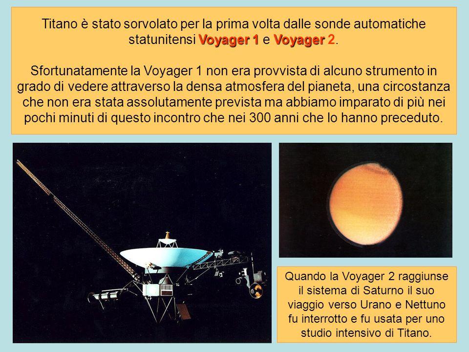 Voyager 1Voyager Titano è stato sorvolato per la prima volta dalle sonde automatiche statunitensi Voyager 1 e Voyager 2. Sfortunatamente la Voyager 1