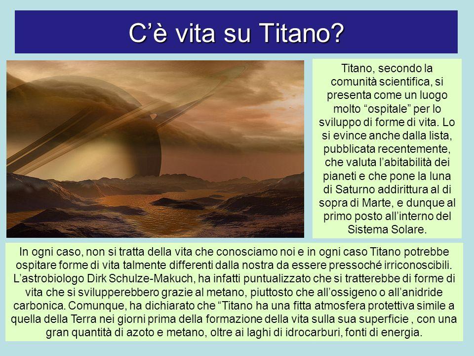Cè vita su Titano? In ogni caso, non si tratta della vita che conosciamo noi e in ogni caso Titano potrebbe ospitare forme di vita talmente differenti