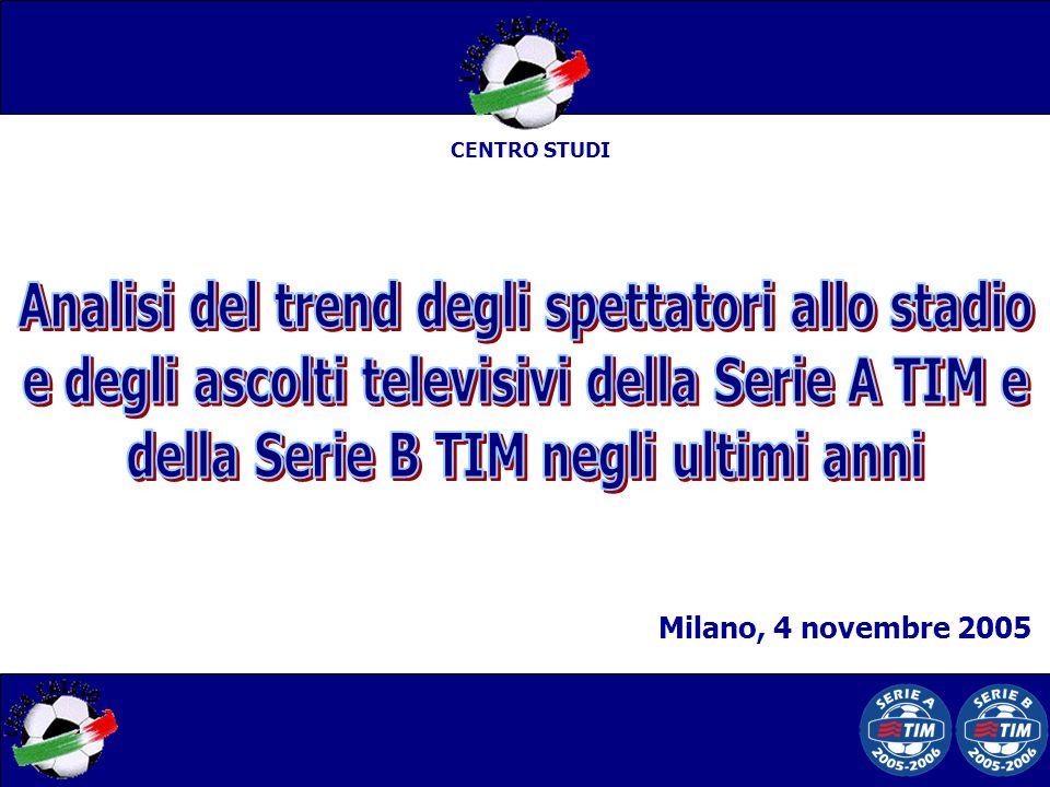 CENTRO STUDI Milano, 4 novembre 2005