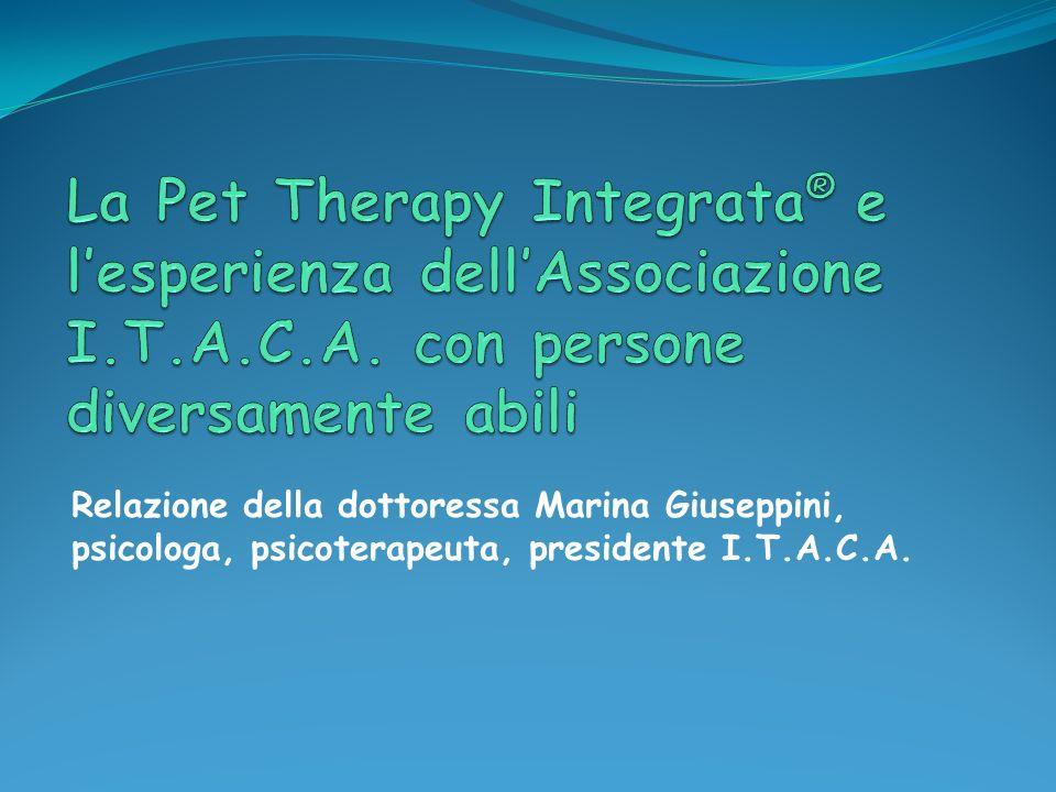 La Pet Therapy Integrata ® svolta da I.T.A.C.A.
